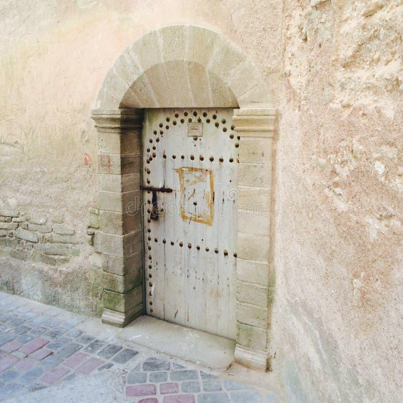 Tür Essaouira Marokko Afrika lizenzfreie stockfotografie