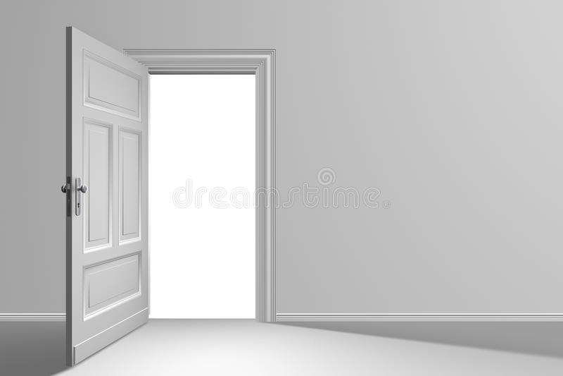 Tür geöffnet lizenzfreie stockfotografie