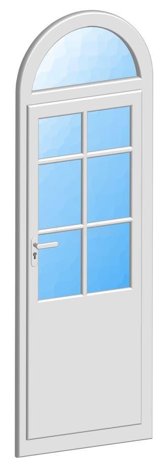 Tür geplätschert stock abbildung
