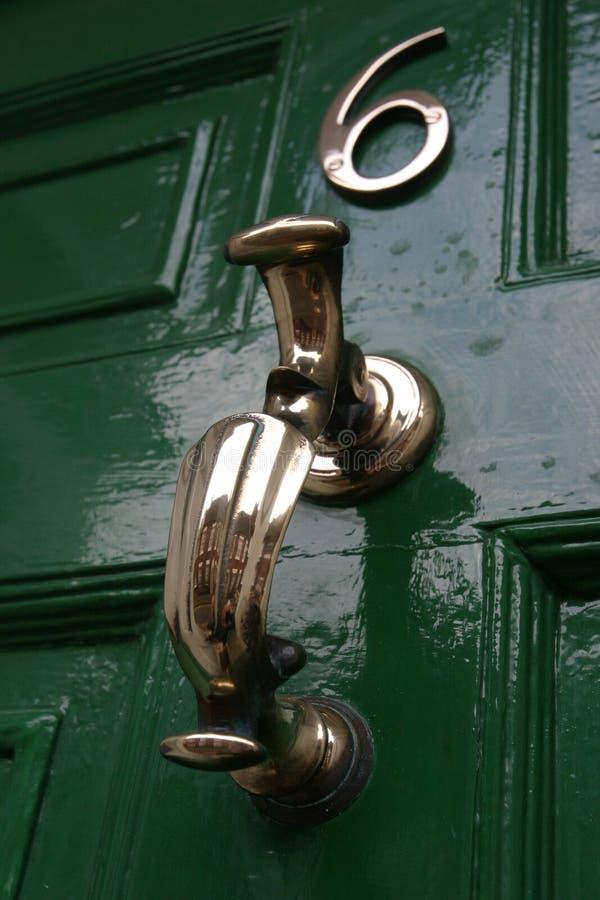 Tür-Klopfer, georgisch lizenzfreie stockbilder