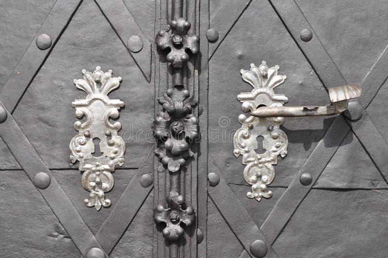 Tür-Knopf lizenzfreies stockbild
