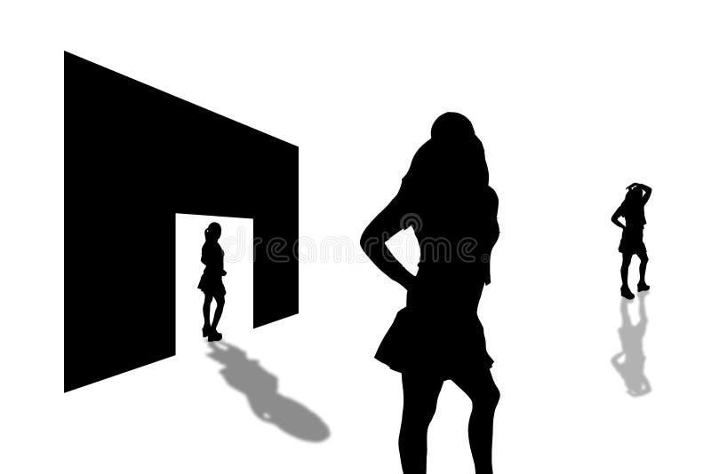 Tür shadows-3 stock abbildung