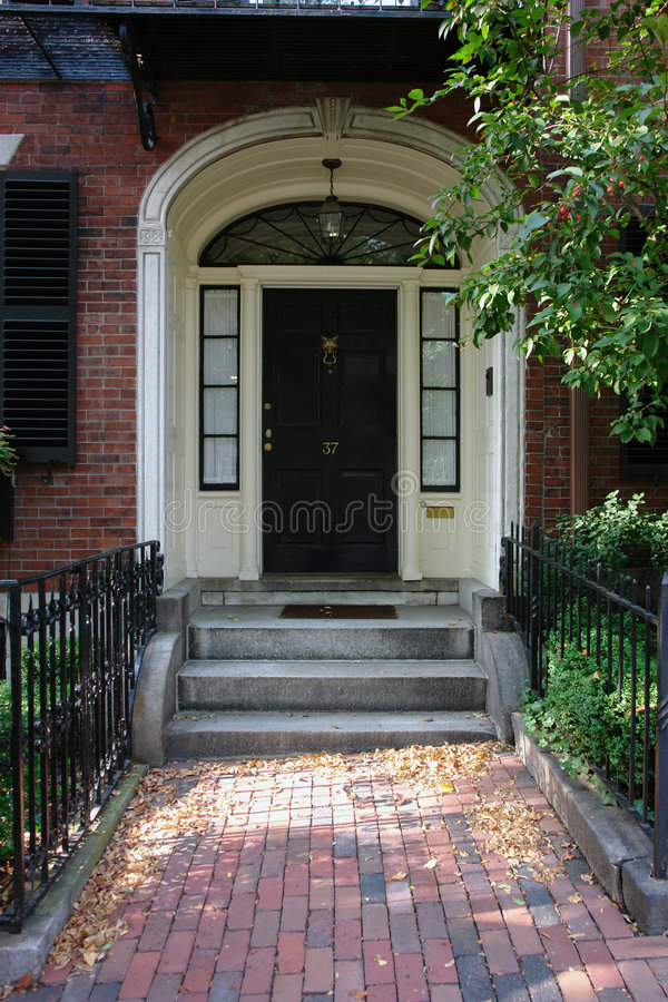 Tür-Zahl siebenunddreißig Boston lizenzfreie stockbilder