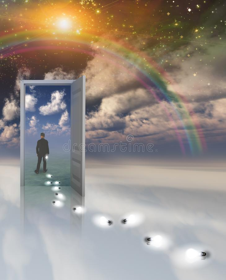 Tür zu einer anderen Welt vektor abbildung