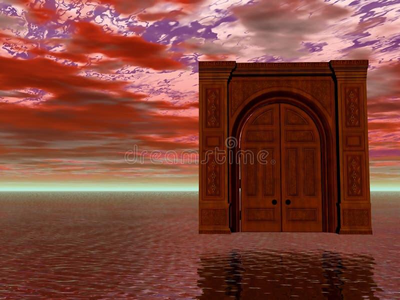 Tür zu nirgendwo lizenzfreie abbildung