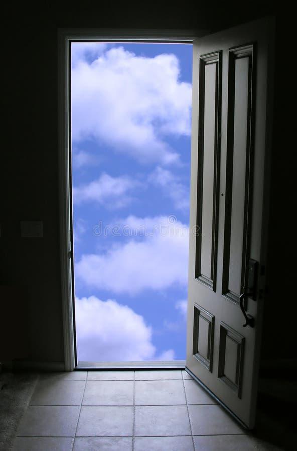 Tür zum Himmel lizenzfreie abbildung