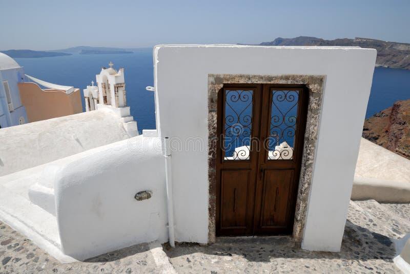 Tür zum Meer stockfoto