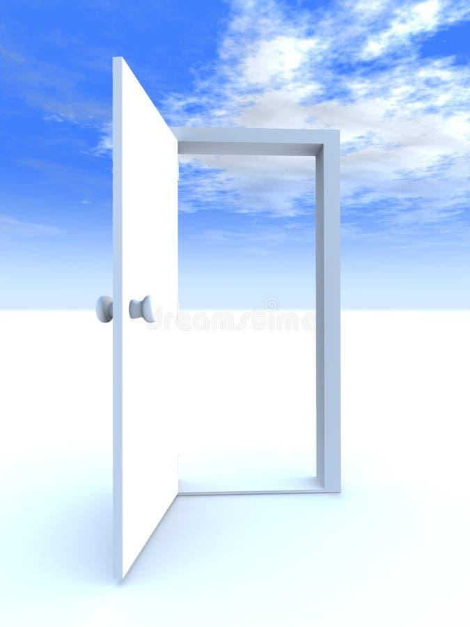 Tür zur Freiheit lizenzfreie abbildung