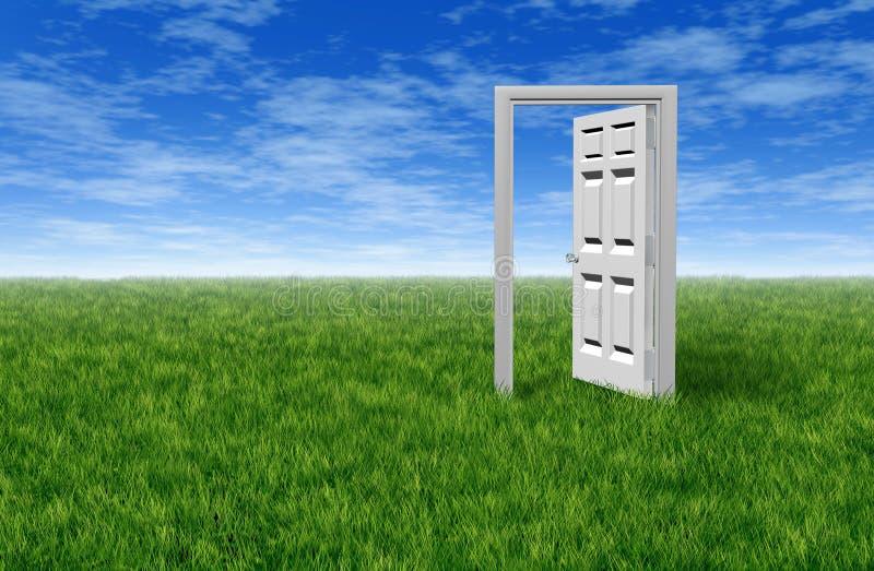 Tür zur Gelegenheit lizenzfreie abbildung