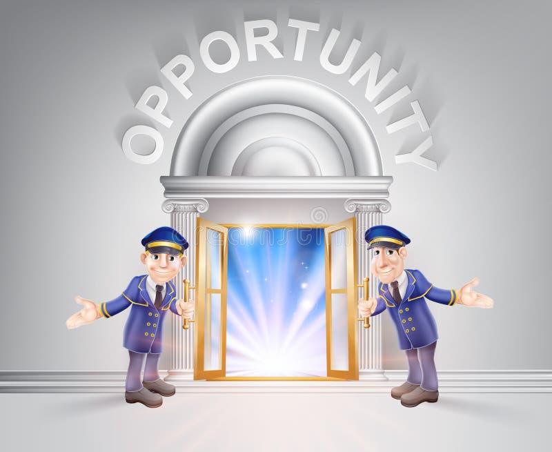 Tür zur Gelegenheit und zu den Doormen vektor abbildung