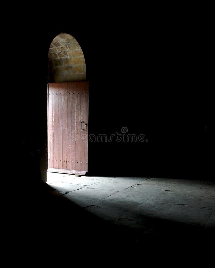 Tür zur Leuchte lizenzfreies stockfoto