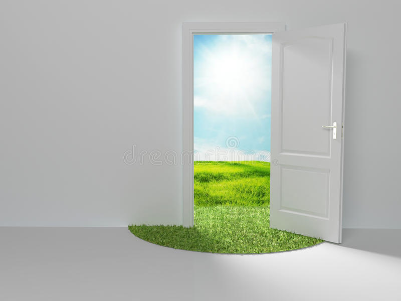 Tür zur neuen Welt lizenzfreie abbildung