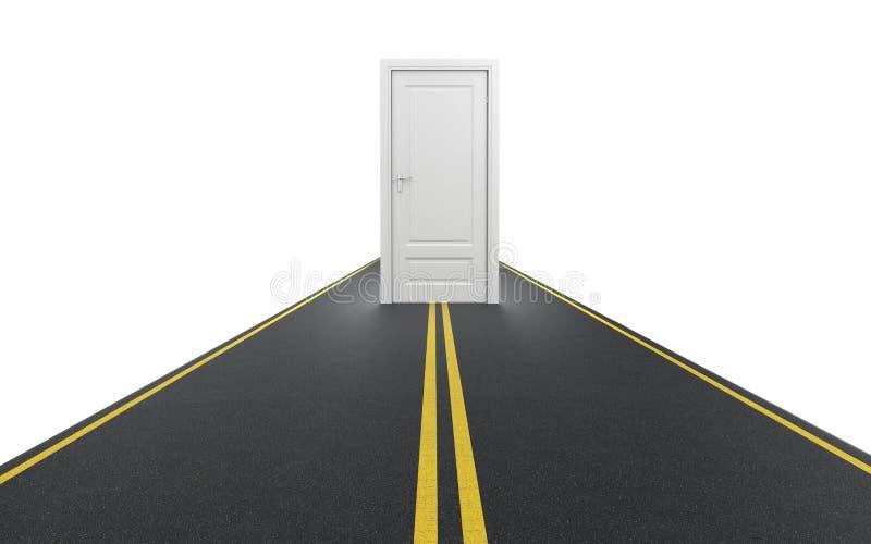 Tür zur Zukunft lizenzfreie abbildung
