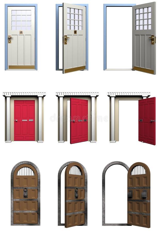 Türen lizenzfreie abbildung