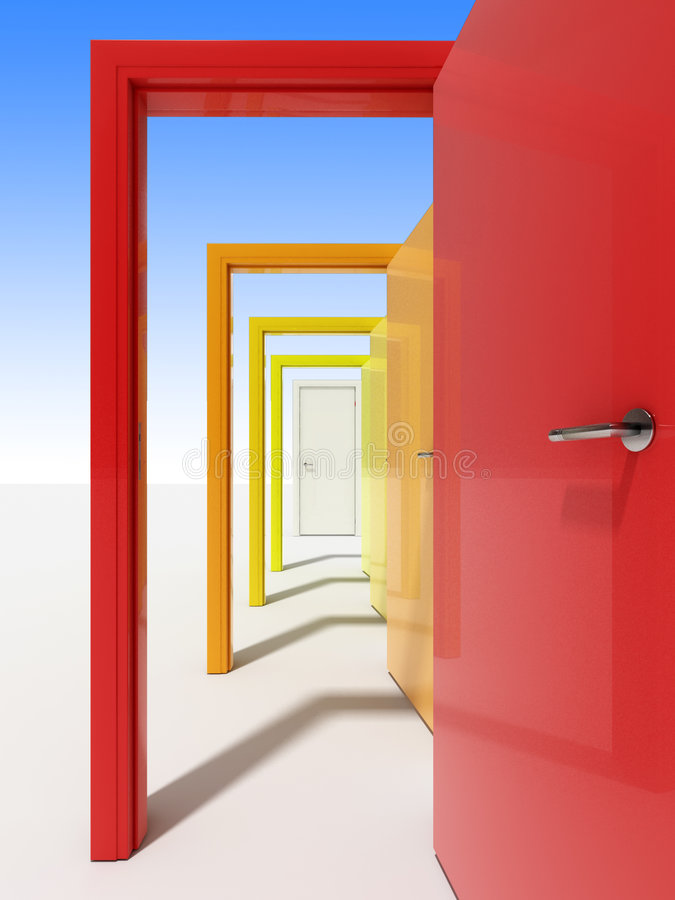 Türen 4 lizenzfreie abbildung