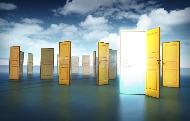 Türen der Gelegenheit lizenzfreie abbildung