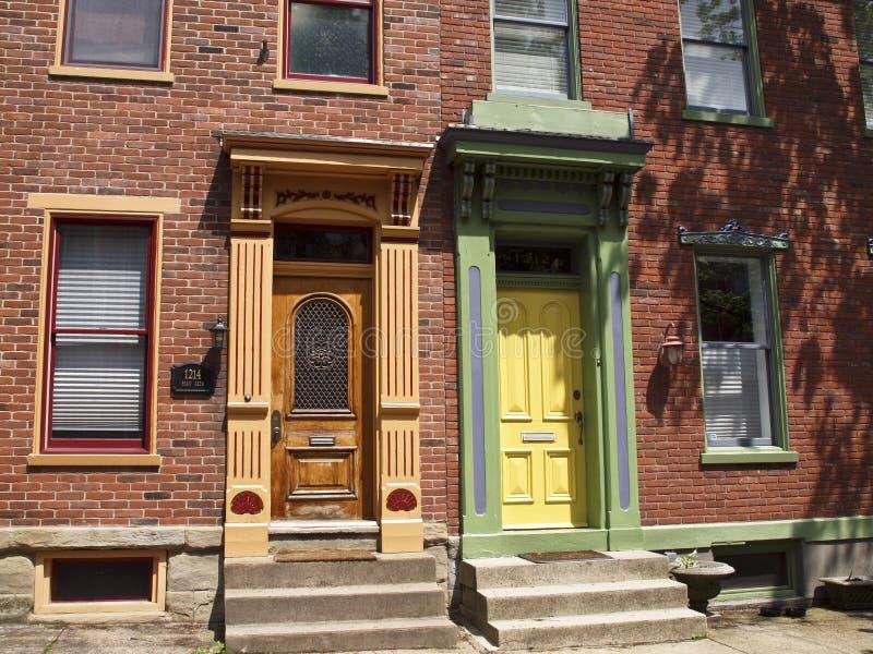 Türen in Pittsburgh stockfotos