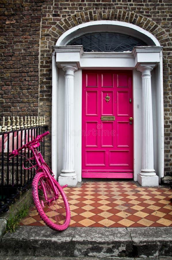 Türen von Dublin lizenzfreies stockbild