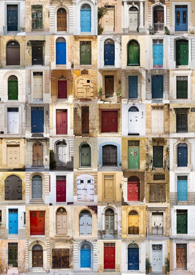 Türen von Malta stockbilder