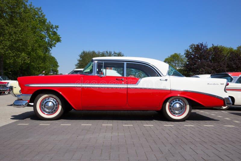 Türhard-top 1956 Chevrolets Belair 4 stockfotografie