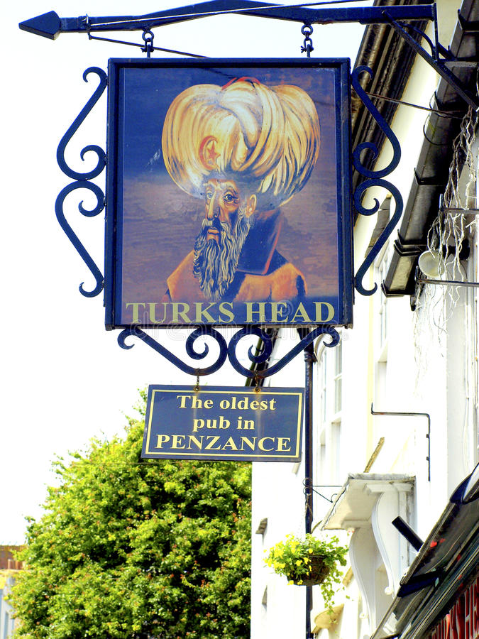 Türke-Kopf, Penzace, Cornwall. stockbild