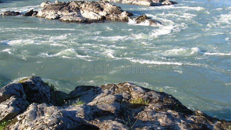 Türkis Katun-Fluss stockfotografie