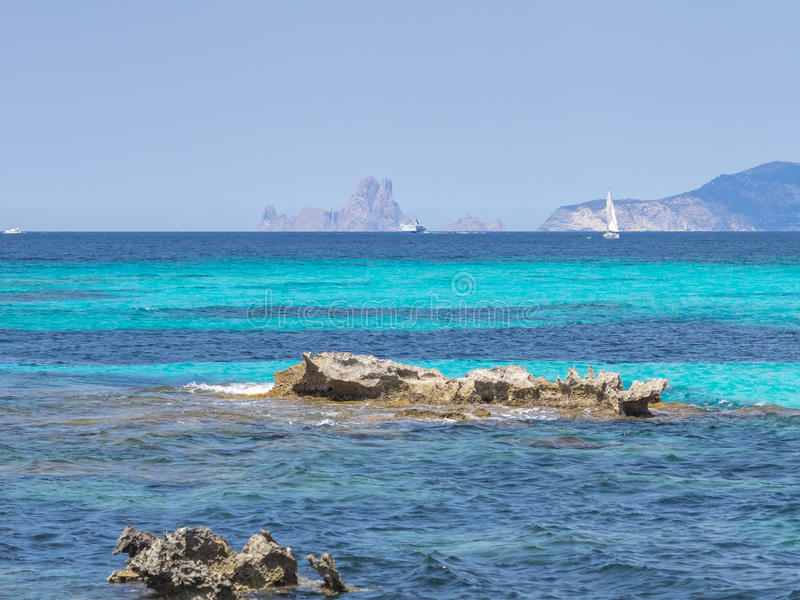 Türkis Mittelmeer stockfoto