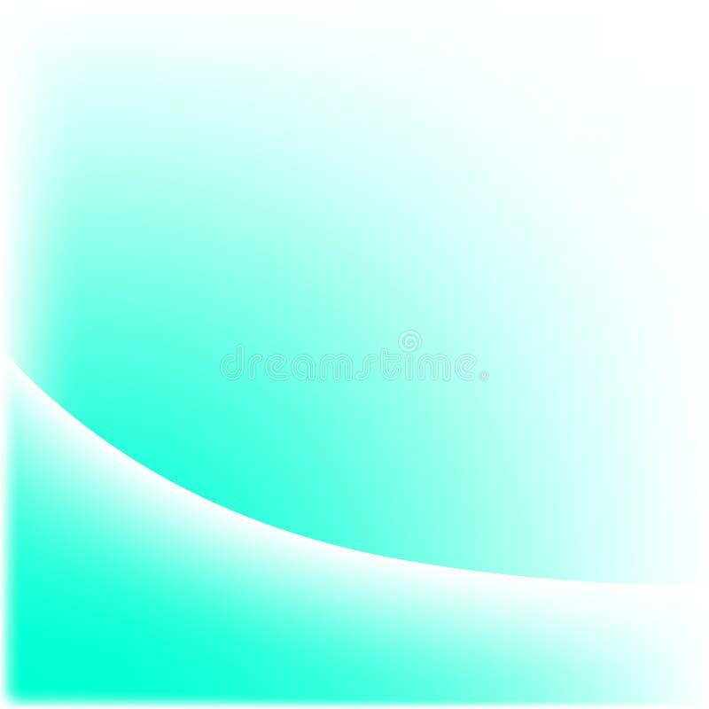Türkis und Weiß-Welle vektor abbildung