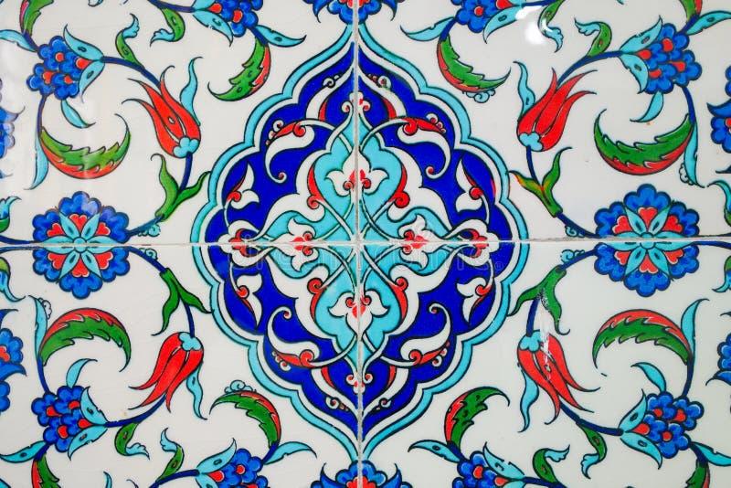 Türkisch - handgemachte alte Fliesen der Osmane lizenzfreie stockbilder