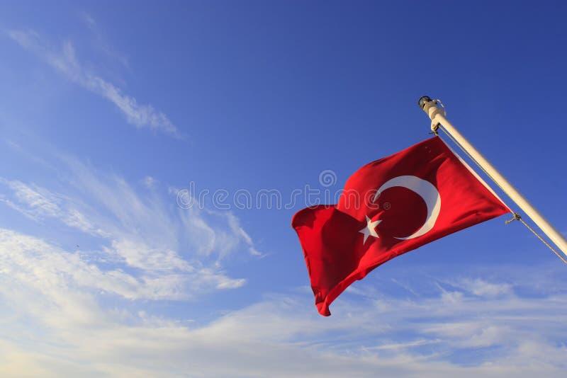 Türkische Flagge lizenzfreie stockbilder