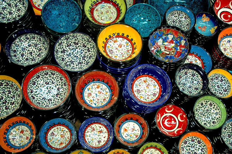 Türkische Flieseplatte stockfotos