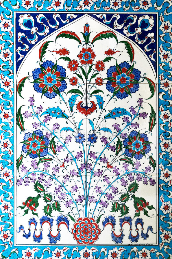 Türkische Keramikfliesen lizenzfreies stockbild