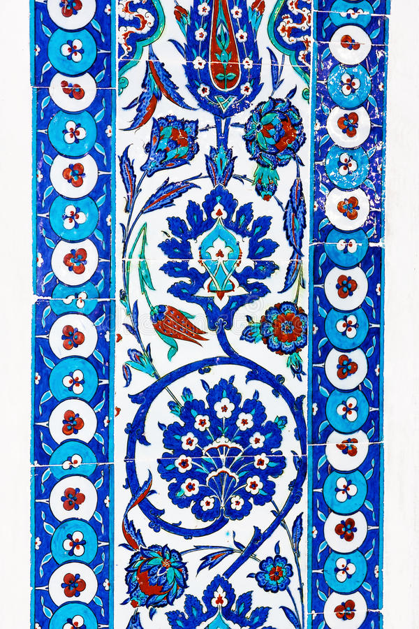 Türkische Keramikfliesen, Istanbul stockbild