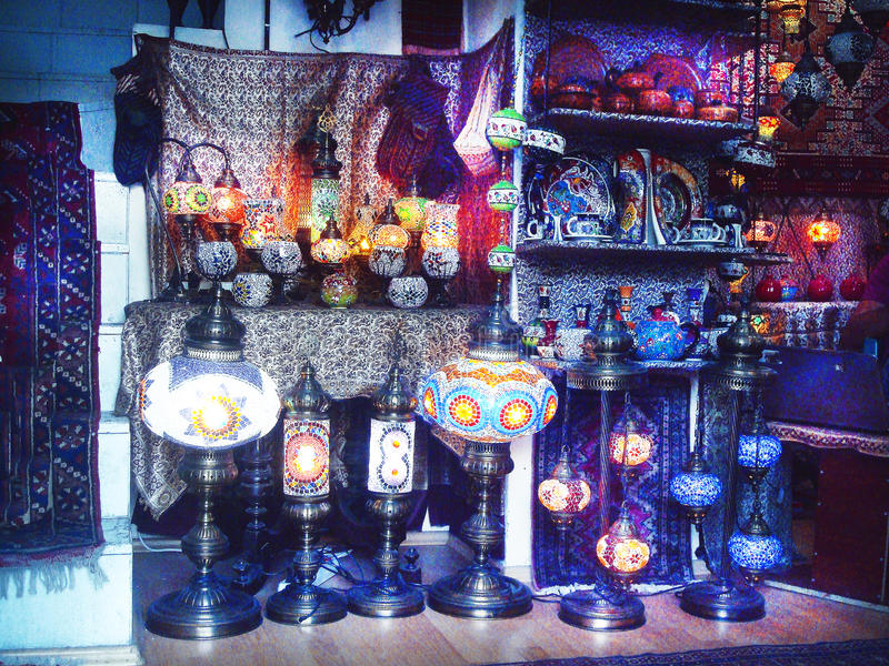 Türkische Lampe lizenzfreies stockbild