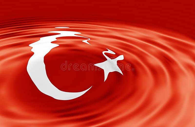 Türkische Markierungsfahne auf Welle vektor abbildung