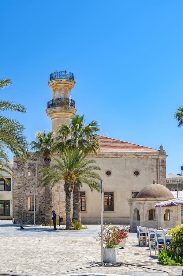 Türkische Moschee Lerapetra auf Kreta stockfotos
