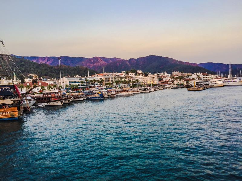 Türkischer Hafen lizenzfreie stockbilder