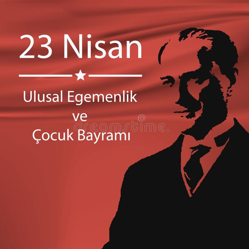 Türkischer nationaler nationaler Souveränität und Kinder` s Feiertag stock abbildung