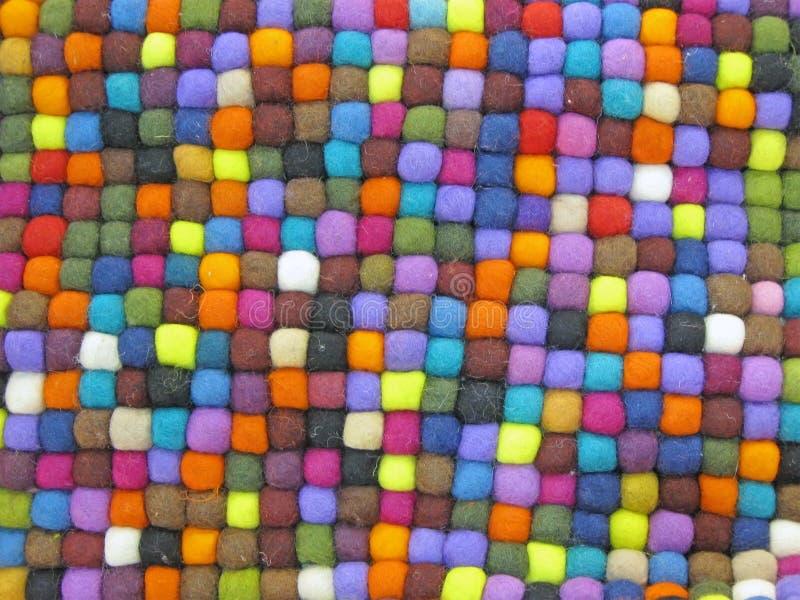 Türkischer silk Teppich des bunten Gewebes, Farben, stockbilder