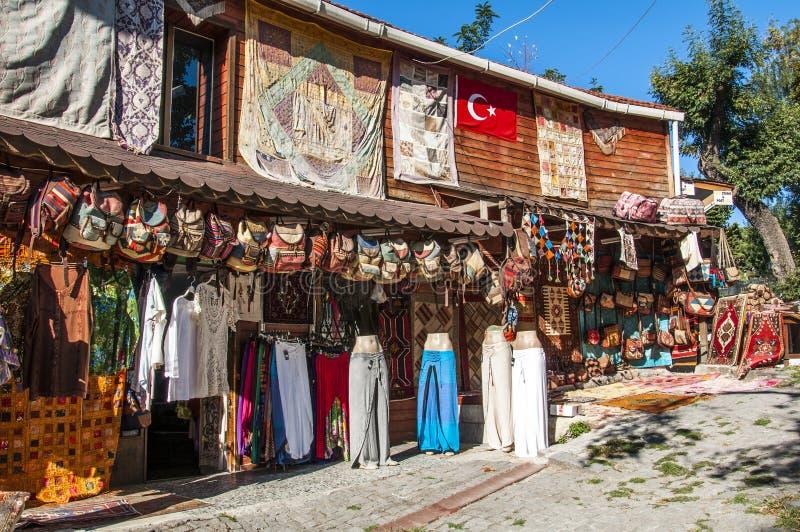 Türkischer Souvenirladen in Istanbul, die Türkei stockbilder