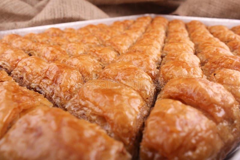 Türkisches Baklava mit Walnuss-Nachtisch lizenzfreies stockfoto