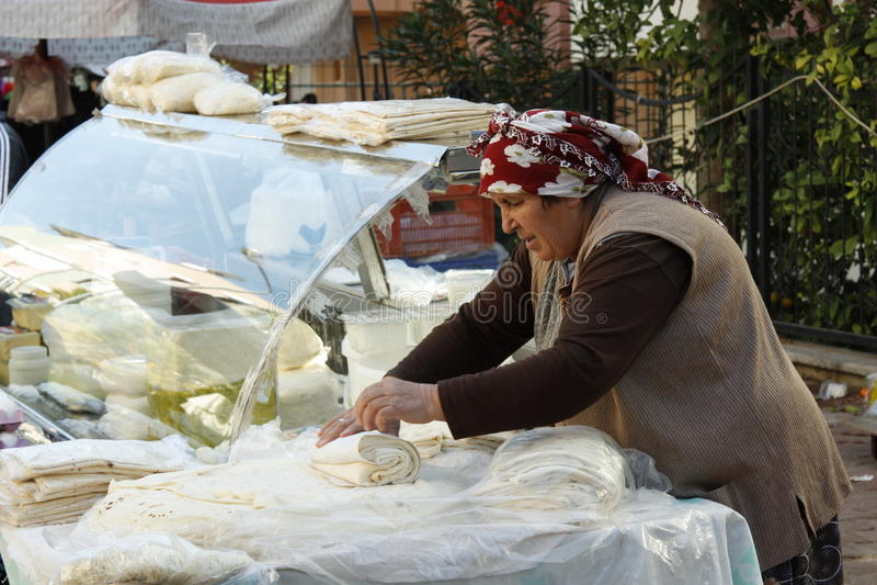 Türkisches Brot Gozleme lizenzfreie stockfotos