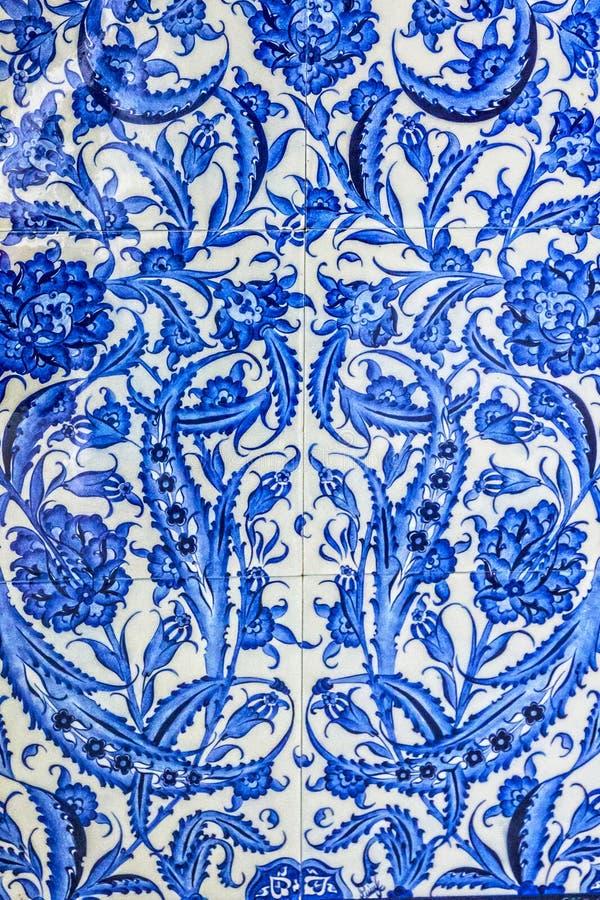 Türkisches Keramikfliesenorientale-Muster lizenzfreie stockfotografie