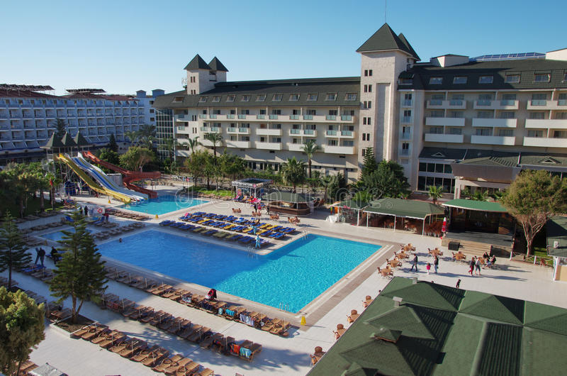 Türkisches Urlaubshotel lizenzfreie stockfotos