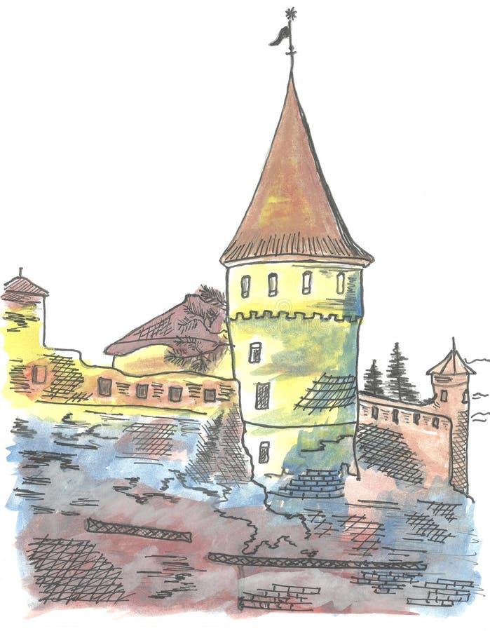 Türme der alten Festung vektor abbildung