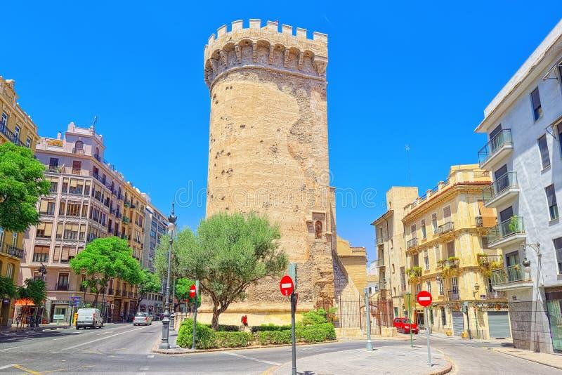 Türme von Quart Torres de Quart ist eins der zwölf Tore, von lizenzfreie stockbilder