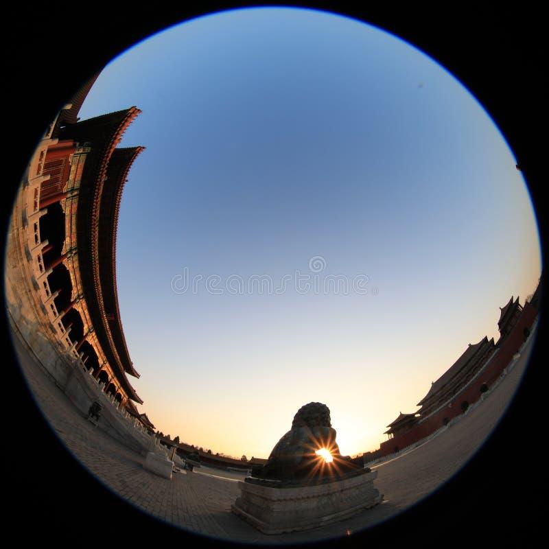 Türspionslinsenphotographie des Peking-Palast-Museums mit einzigartiger Vision lizenzfreie stockfotografie