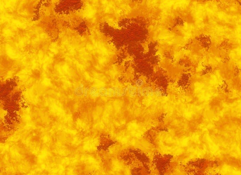Tężąca lawa ogienia tekstura erupcja wulkan ilustracji
