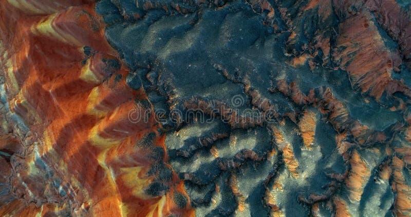 Tęcz góry - zadziwiający wzór tworzył naturą obrazy royalty free