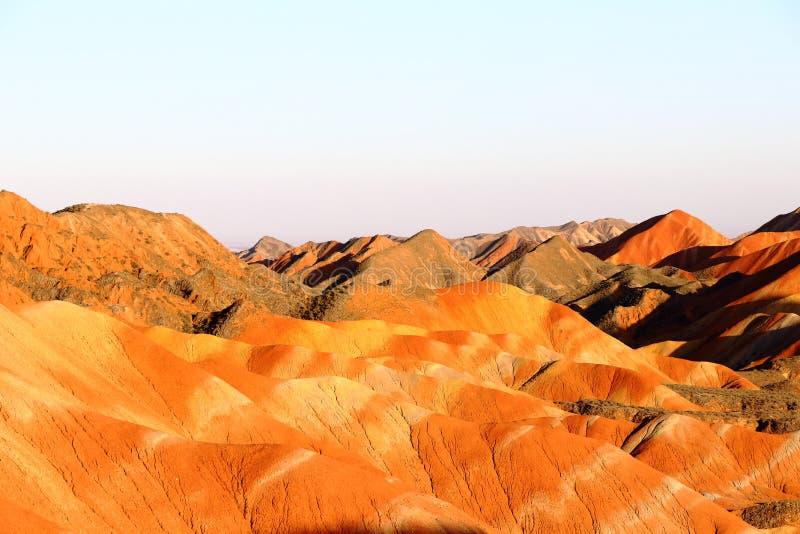 Tęcz góry, Zhangye Danxia Landform Geological park, Gansu, Chiny zdjęcie royalty free